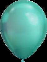 Chrome ballonnen groen 27,5 cm