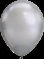 Ballonnen Chrome Silver Latex 27,5 cm