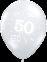 Ballonnen '50' Crystal Diamond Transparant 5 stuks