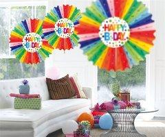 Honeycomb Fan Multicolor 45 cm