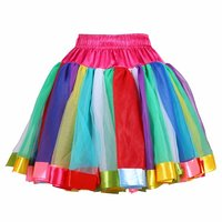 Luxe petticoat 2 laagse multicolor