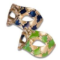 Venetiaans masker Colombina Mamo assorti kleurcombinaties