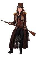 Dames steampunk jasje kort model bruin OP=OP
