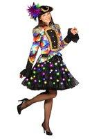 Petticoat 2 laags zwart met multi color led verlichting