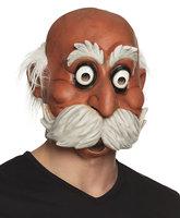 Masker opa Oldie met haar (latex masker)