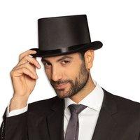 Hoge hoed zwart satijn luxe