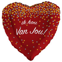 Folieballon 'Ik hou van jou' glitter holografisch 43 cm