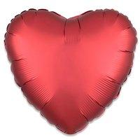 Folieballon Rood hart 43 cm