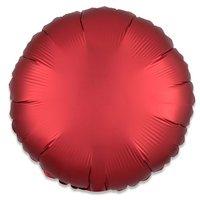 Folieballon Rood rond 43 cm