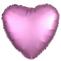 Folieballon Roze hart 43 cm