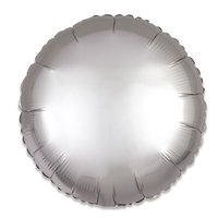 Folieballon Zilver rond 43 cm
