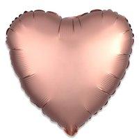 Folieballon Rosékoper hart 43 cm