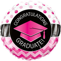 Folieballon rond 'congratulations graduate'