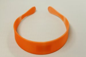 Haardband neon oranje