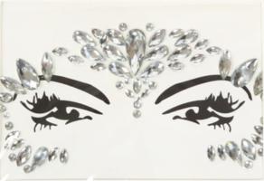 Face en body jewels zilver (gezicht steentjes) nr 6