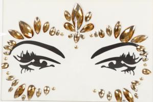 Face en body jewels goud (gezicht steentjes) nr 3