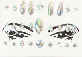 Face en body jewels parelmoer (gezicht steentjes) nr 1