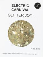 Glitters grof goud 5 gram