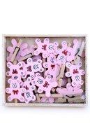 Wasknijpertje roze beertjes