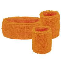 Zweetbandjes set oranje: hoofdband en polsbanden