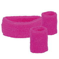 Zweetbandjes set roze: hoofdband en polsbanden