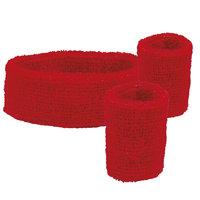 Zweetbandjes set rood: hoofdband en polsbanden