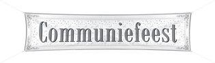 Banner 'Communiefeest' 40 x 180 cm OP=OP