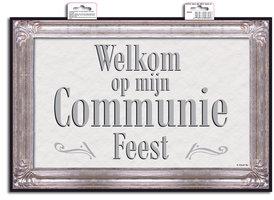 Communie deurbord 'Welkom op mijn communie' OP=OP
