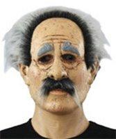 Opa / Abraham masker met en snor