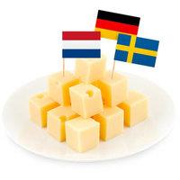 Cocktailprikkers Europa vlaggen 50 stuks