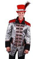 Carnavalsjas heren Sparkle zwart-zilver