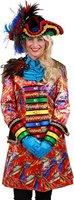 Carnavalsjas dames Feathers met satijnlint