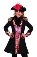 Carnavalsjas dames Feng Shui zwart-roze