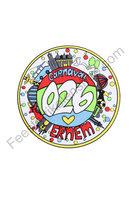 026 Embleem XL rond 20 cm