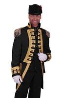 Carnavalsjas Nelson heren zwart lang