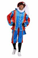 Pieten Kostuum velours de panne polyester fluweel rood-blauw