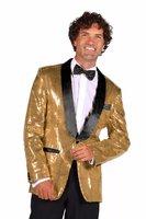 Pailletten jas heer goud-zwart