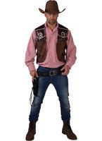 Cowboy vest bruin