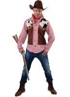 Cowboy ruit hemd met vest imitatie suede