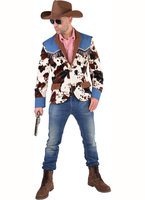 Cowboy colbert jeans en koeienprint