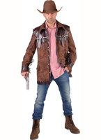 Cowboy western jas bruin suede
