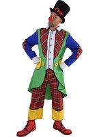 Clown slipjas met vest en ruitbroek