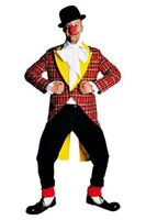 Clownsjas rode ruit en gele revers OP=OP