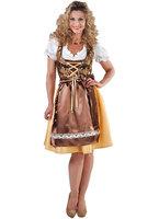 Luxe Dirndl jurk bruin + GRATIS KOUSEN