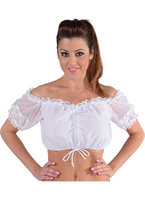 Dirndl blouse wit luxe