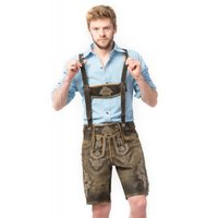 Lederhosen kort model retro look Wildleder