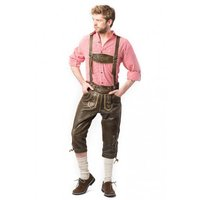 Lederhosen kniebund model retro look Wildleder