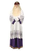Sinterklaas onderkleed met paarse losse broek en koord