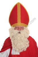 Sinterklaas Pruik & Baard Kunsthaar Nr. 4