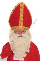 Sinterklaas Pruik & Baard Kunsthaar Nr. 3